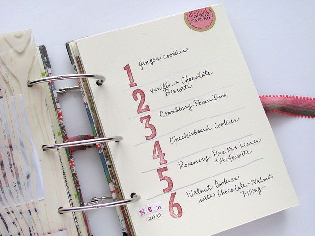 Stamped Numbered List // December Daily 27 by ChiekoY, via Flickr #simpledecdaily