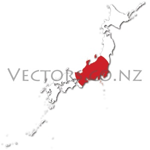 Flag Vector Map of Japan