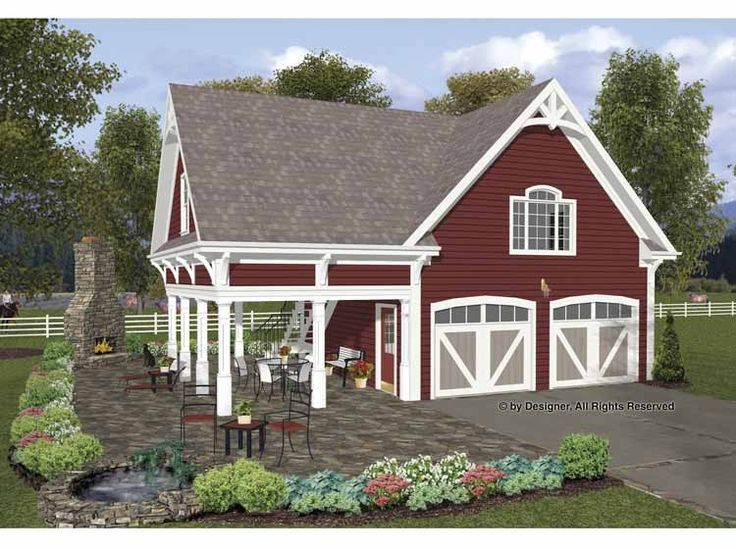This Garage Plan Has 664 Sq. Of Storage Space Above. Measuring X With  Siding Exterior, The Country Styling Plan Features A Covered Porch To Enjoy  While ...