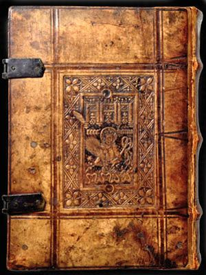 15th century book from the Bridwell ancient books exhibit / SMU Forum