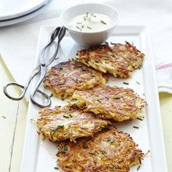 Parsnip-Celery Root Pancakes with Pancetta - EatingWell.com