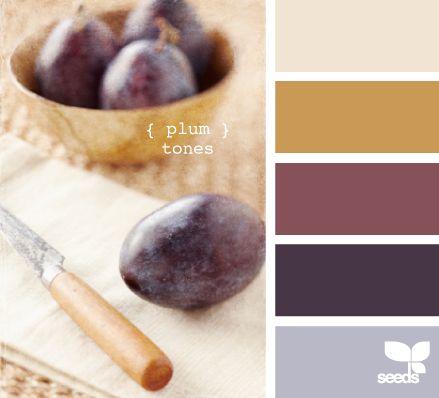 plum tones