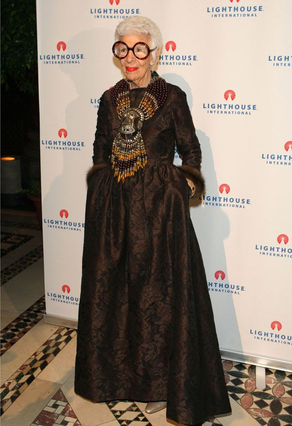 This lady, Iris Apfel is GREAT. #inspired