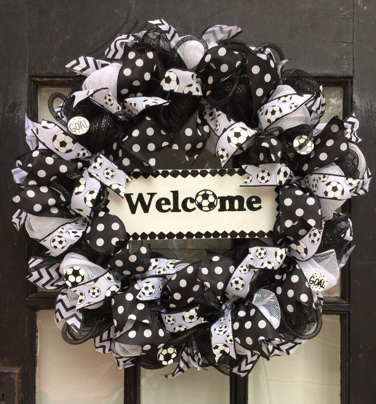 A personal favorite from my Etsy shop https://www.etsy.com/listing/462579957/soccer-wreath-soccer-front-door-wreath