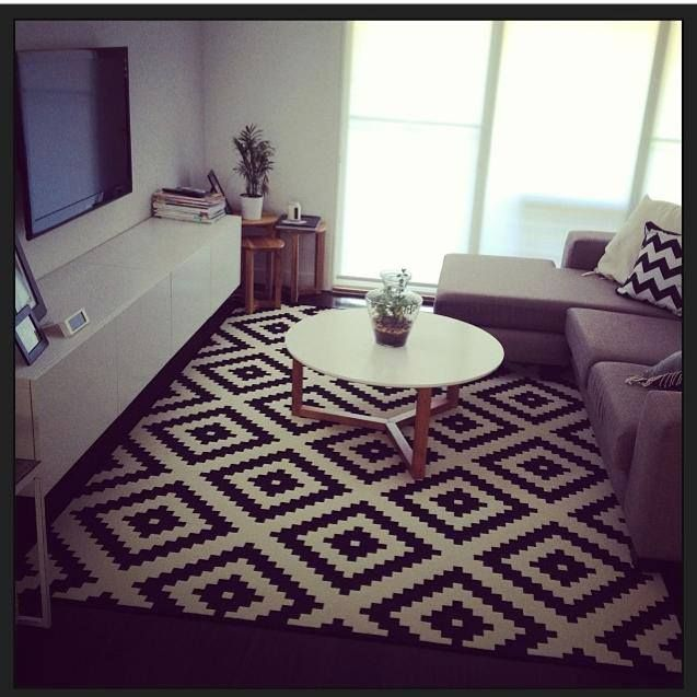 black white rug ikea lovely home decor pinterest