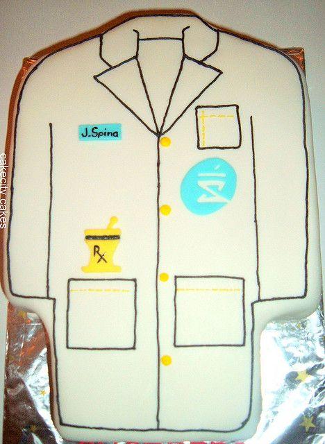 pharmacist lab coat cake      md
