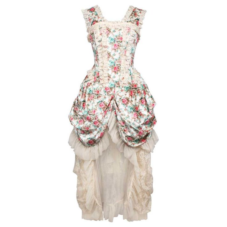 VG London Victoriaanse gedrapeerde fluwelen korset jurk met bloemen pr