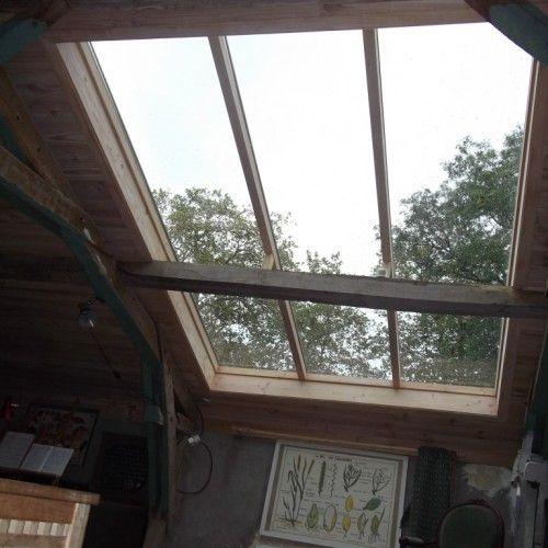 fenetre de toit avec poutre