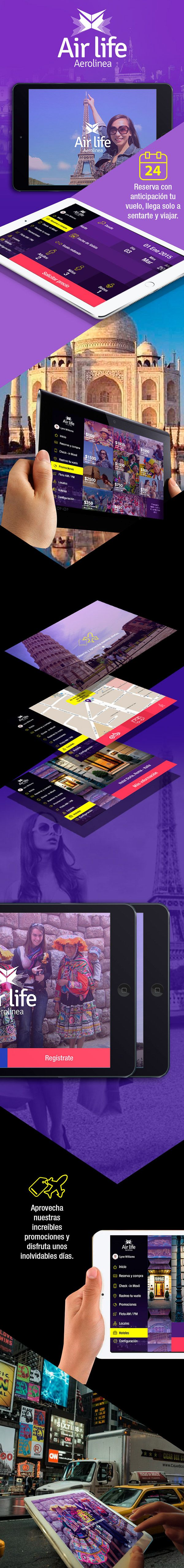 Resultados: CURSO DISEÑO DE INTERFACES MOBILE 2015-I on Behance