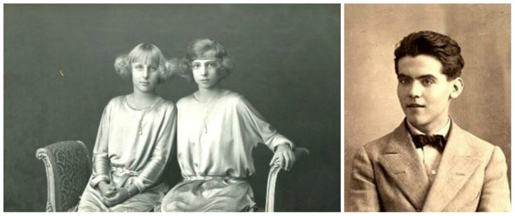 Left: Two girls, Maria-Christina and Beatrice. Right: The 16-year-old Federico García Lorca, a Spanish poet. What young people looked like 100 years ago