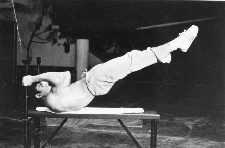 The Dragon Flag, pioneered by Bruce Lee. Nothing will give you a better workout burn. The pinnacle of core strength!