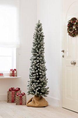 árbol De Navidad Verde Nevado Slim 150 Cm Leroy Merlin Navidad Verde Arbol De Navidad Ideas Para Arboles De Navidad
