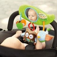 Wish | Fashion Infant Child Baby Mirror Plush Doll Educational Toys Cute Owl Lathe Hang Baby Stroller Accessories [HY]