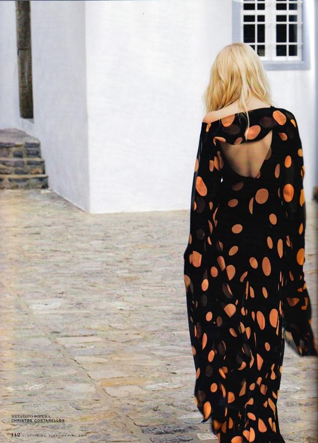 Chistos Costarellos Silk Chiffon Maxi Dress