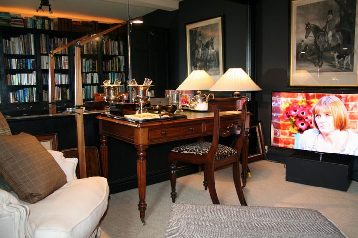 """The new Library sitting room in the Cavalier Suite,complete with 46"""" TV"""