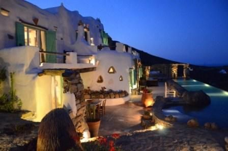 THE CYCLADES MYKONOS A UNIQUELY DISTINCT VILLA  TRADITIONAL CYCLADIC ARCHITECTURE  ELEGANCE & LUXURY  LEISURE & RELAXATION  PRIVACY  BREATHTAKING AEGEAN VIEWS