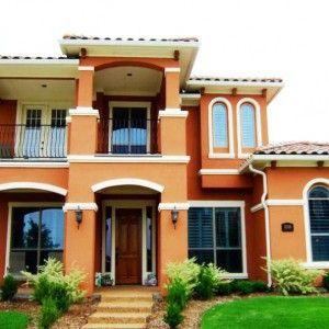 Paredes exteriores pintadas con terracota buscar con - Color paredes casa ...