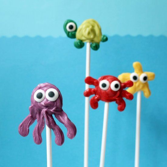 Easy-to-make sea animal candy pops for summer