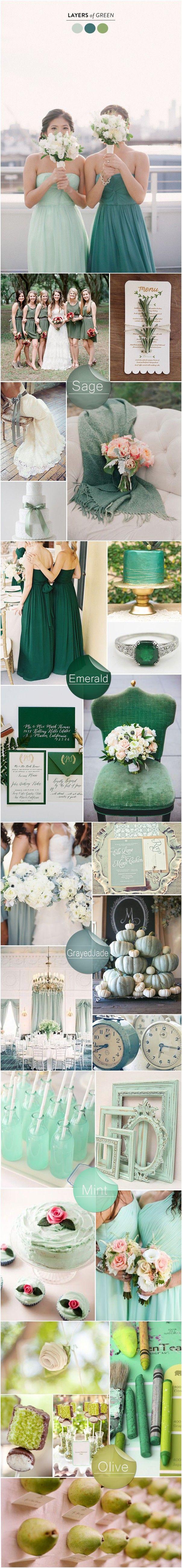 Perfect Shades of Green Wedding Color Ideas 2015 Trends - Sage Green, greened jade wedding color, wedding idea