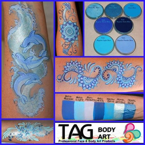TAG Colour Swatches | TAG Face Paints | TAG Body Art