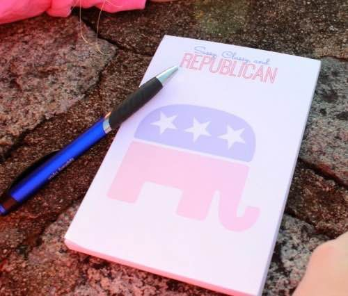 Use discount code PoliticalPearls for 10% off this FFL Notepad