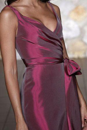 Robe demoiselle d'honneur naturel fourreaux plissés avec zip textile taffetas de sirène