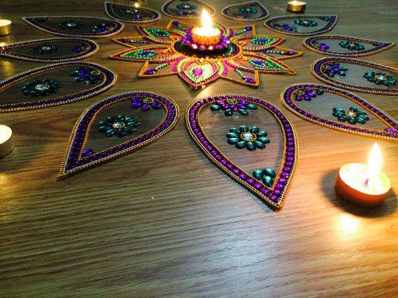 Big Rangoli For Diwali 2014 decor with by JustForElegance on Etsy