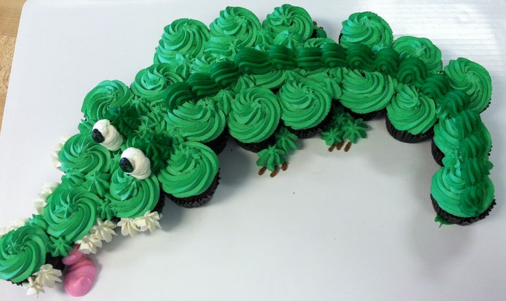tic toc croc cupcake cake - Google Search