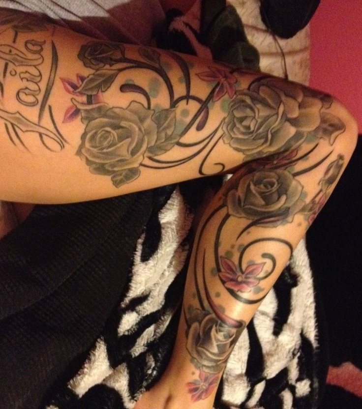 my leg, only a portion of a full side body tattoo <3