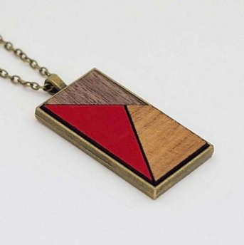Red Mosaic pendant by JuliaHDesign on Etsy