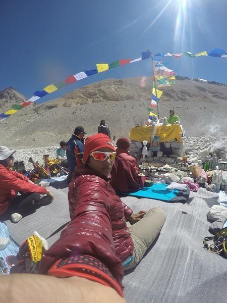 Neelima Pudota at Everest Camp