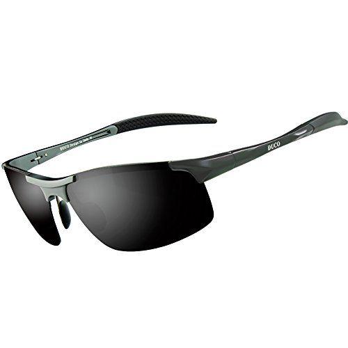 Lunettes de soleil homme Duco – Lunettes de sport polarisées – Lunettes de conduite  avec monture f5e9281ddf82