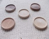 unfinished wooden brooch/pendant base with 40 mm inner diameter,unfinished jewel base,round brooch setting,wooden jewel supply  5 pc mix of dark walnut&oak& red maple wooden round wood jewel base/frame for jewel making.  www.artwoodenstuff.com