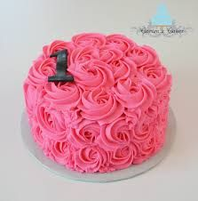 hot pink smash cake