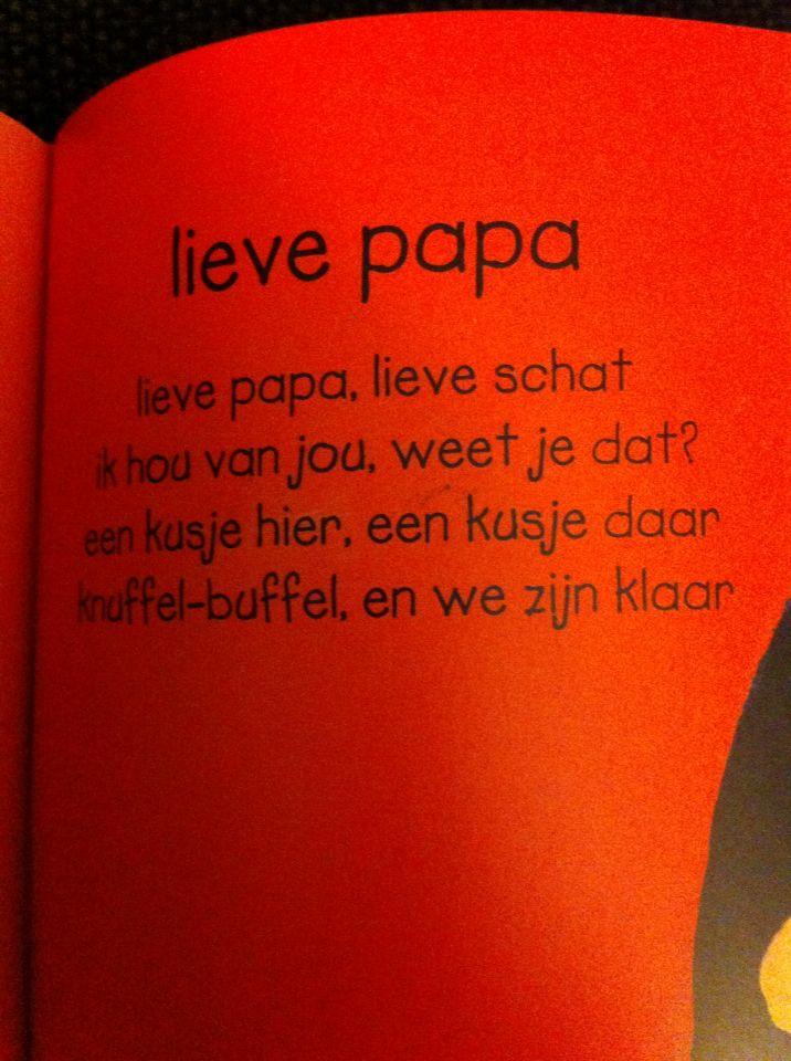 Versje: lieve papa