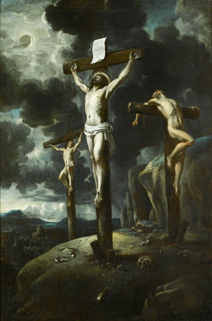 Escuela española, siglo XVII, La Crucifixión