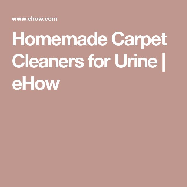 Homemade Carpet Cleaners for Urine | eHow