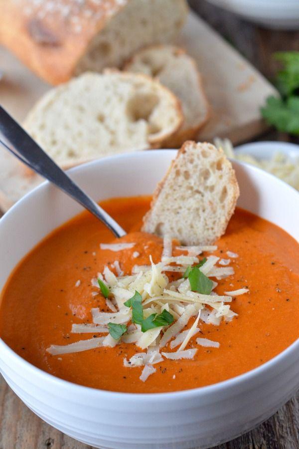 ... Tomato Basil Soup on Pinterest | Soups, Tomato basil and Creamy tomato