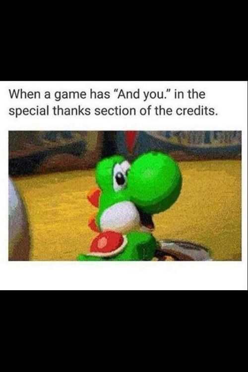 Special thanks feels