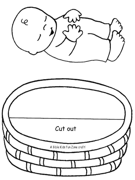 Baby Moses craft - right click to download - recommended by Charlotte's Clips - http://pinterest.com/kindkids/religious-education/