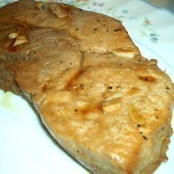 Costeleta de porco marinada