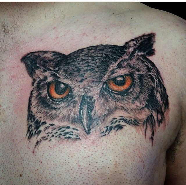 Great Horned Owl Black And Grey Tattoo 1000+ ideas abo...