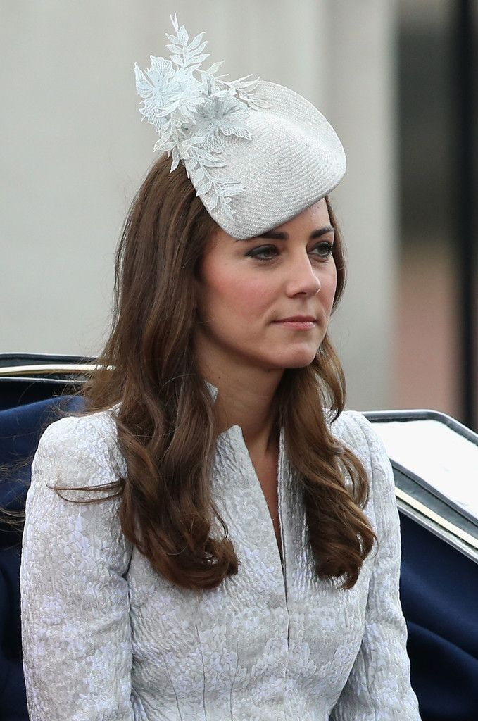 Kate Middleton: Catherine, Duchess of Cambridge travels by carriage during Trooping the Colour - Queen Elizabeth II's Birthday Parade, at The Royal Horseguards on June 14, 2014 in London, England.