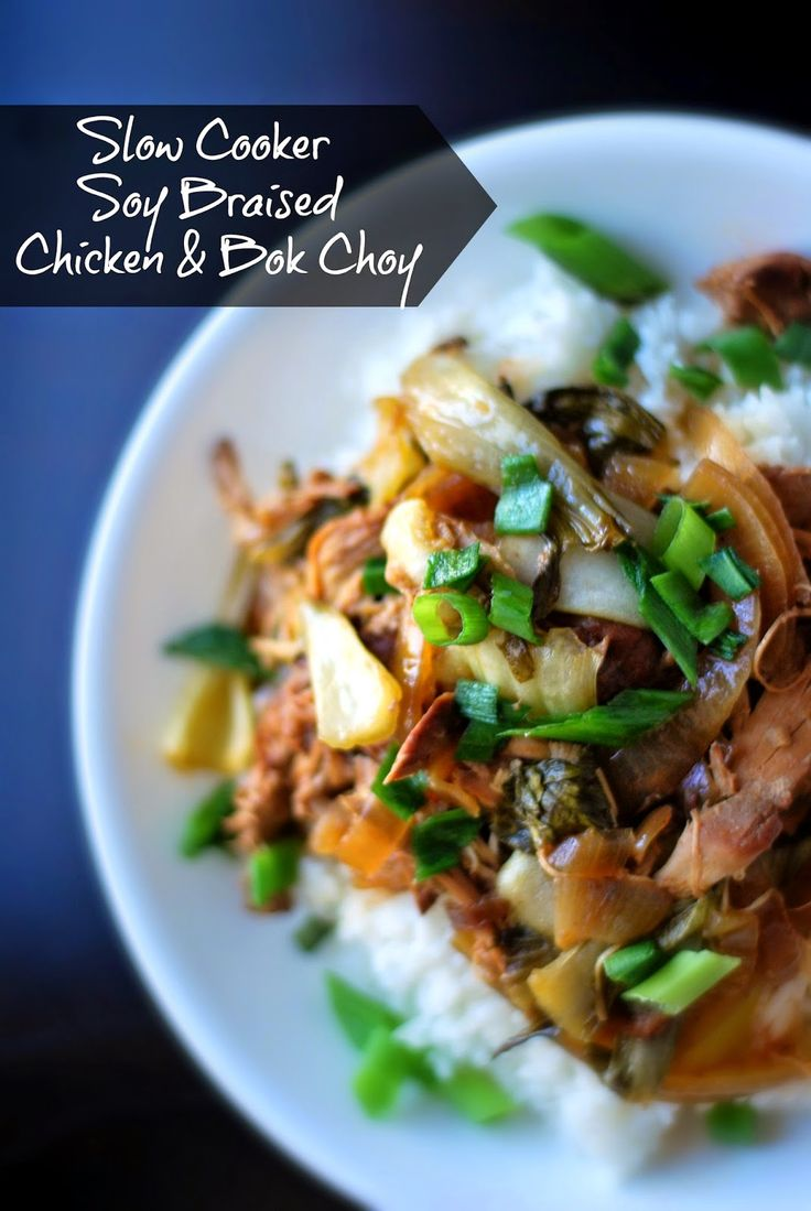 Aunt Bee's Recipes: Slow Cooker Soy Braised Chicken & Bok ...