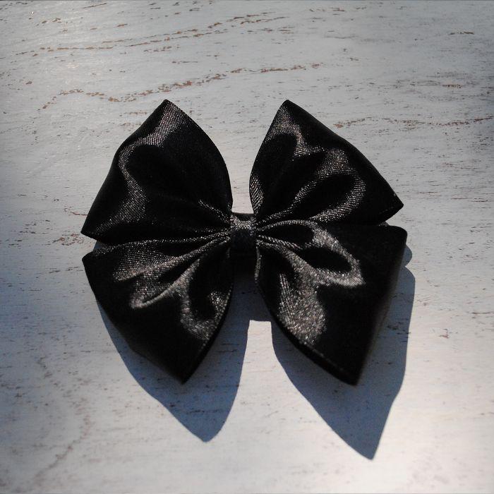 Happy Moment. Черный  #bow #SunBow #SPb #hairbow #hairstyle #бант #бантик #заколка #заколкадляволос #черный
