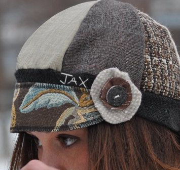 Jax Hats  recycled sweater hat in Browns tans and a by jaxonsjazz, $30.00