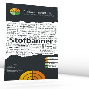 Storformat stofbanner produceres i formater fra 70x100 til 250x1000 cm på 220 gr. polyester, her er der mulighed for valg af flere former for efterbehandling.