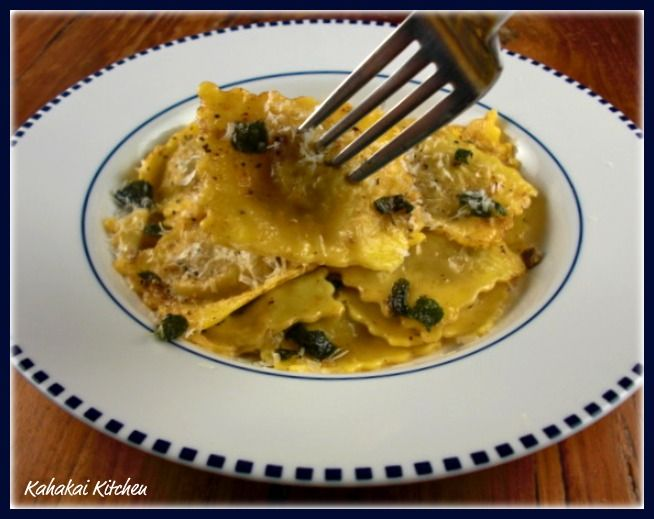 Giada's Brown Butter Sauce with Mushroom Ravioli