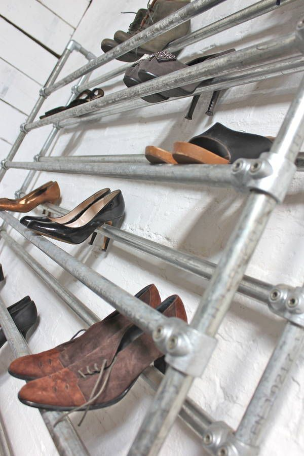 galvanised steel pipe shoe rack by inspirit | notonthehighstreet.com
