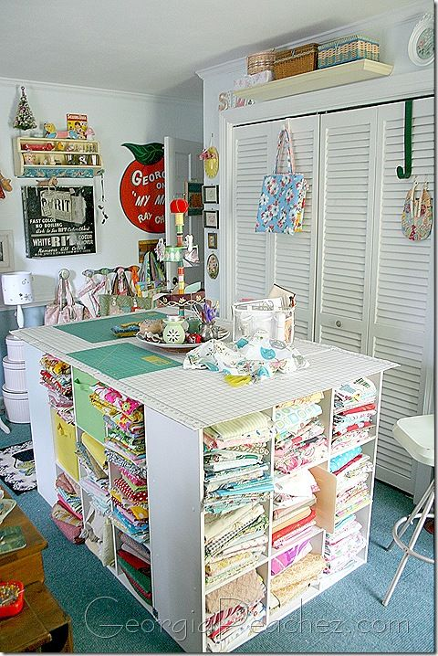 Cutting table for a sewing/craft room